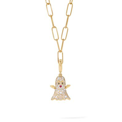 Mythology 18ct Gold Diamond Ghost Necklace