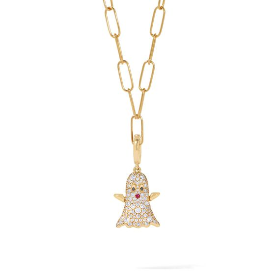Mythology 18ct Gold Diamond Ghost Necklace | Annoushka jewelley