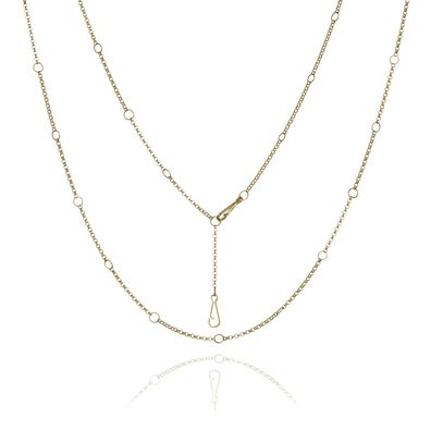 Hoopla 18ct Gold Long Chain