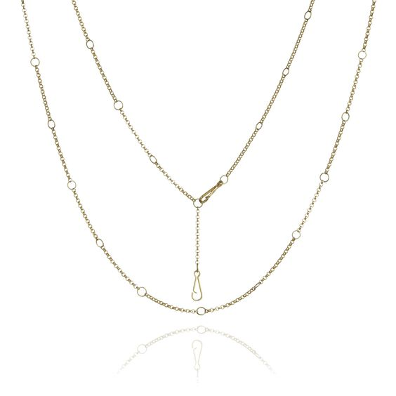 Hoopla 18ct Gold Long Chain | Annoushka jewelley
