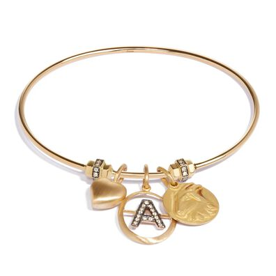 Mythology 18ct Gold Personalised Charm Bangle