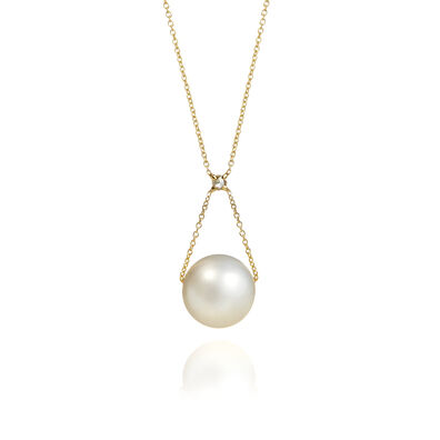 18ct Gold Pearl Diamond Necklace