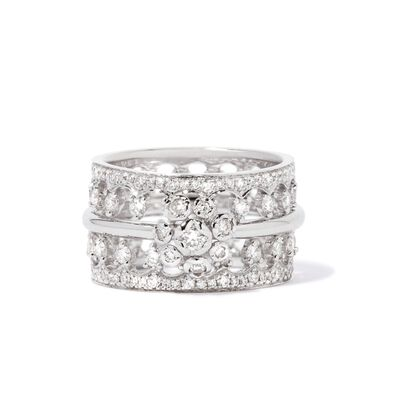 Marguerite 18ct White Gold Ring Stack
