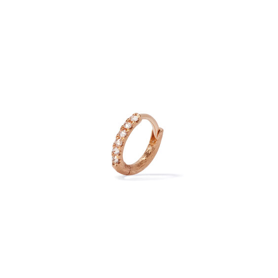 Dusty Diamonds 18ct Rose Gold Diamond 10mm Hoop | Annoushka jewelley