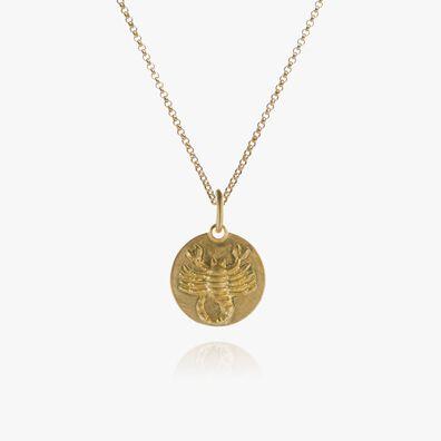 Mythology 18kt Gold Scorpio Necklace