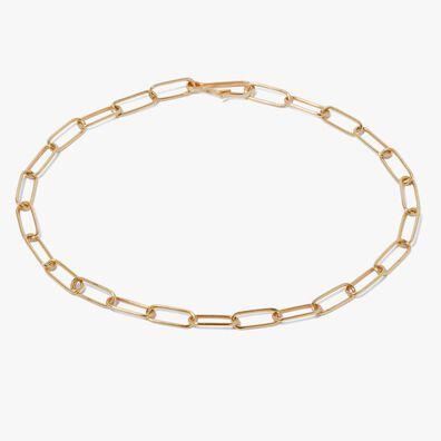 14ct Gold Mini Cable Chain Large Bracelet