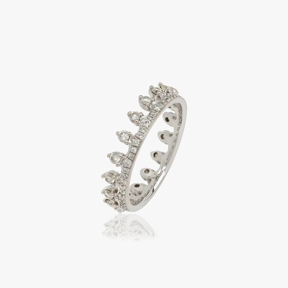 Crown 18ct White Gold Diamond Ring