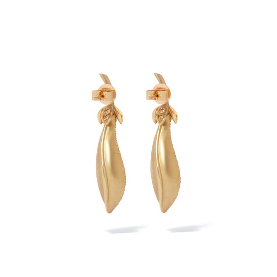 Mythology 18ct Gold Pearl Diamond Peapod Earrings | Annoushka jewelley