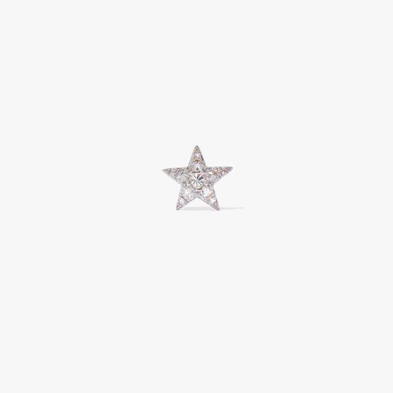 Love Diamonds 18ct White Gold Diamond Star Single Stud | Annoushka jewelley