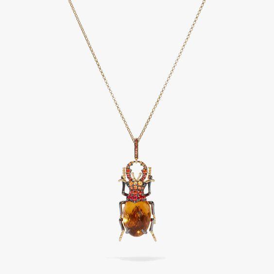 Mythology 18ct Gold Citrine Beetle Charm | Annoushka jewelley