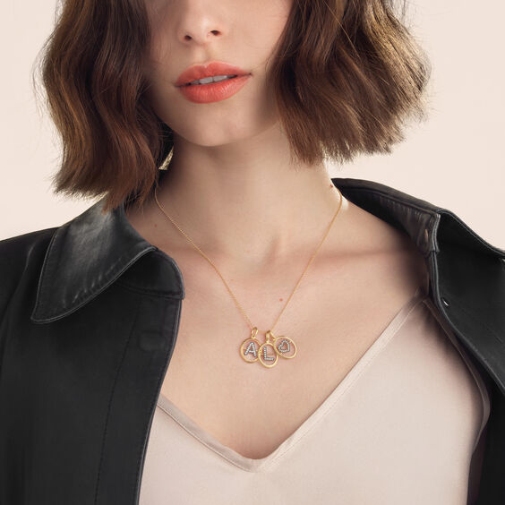 18ct Gold Initial Love Necklace | Annoushka jewelley