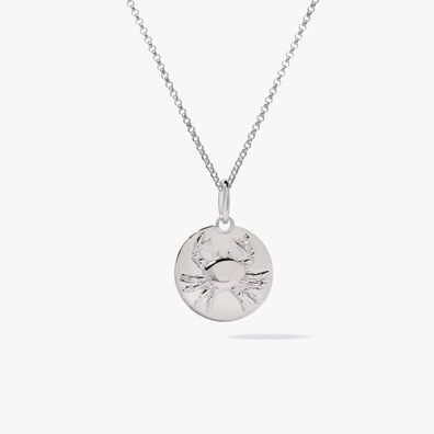 Mythology 18ct White Gold Cancer Necklace