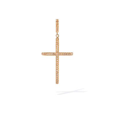 Eclipse 18ct Gold Brown Diamond Cross Pendant