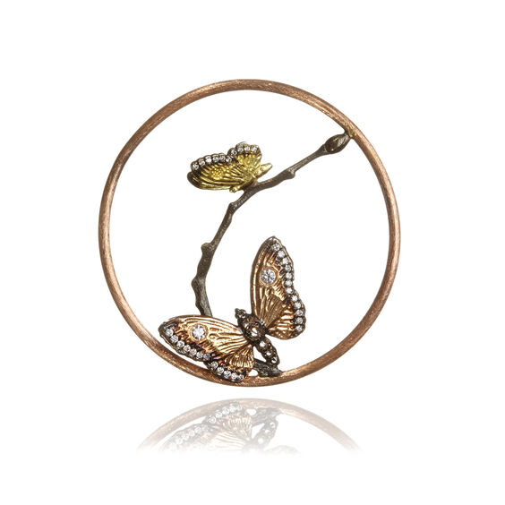 18ct Rose Gold Diamond Butterfly Hoopla | Annoushka jewelley