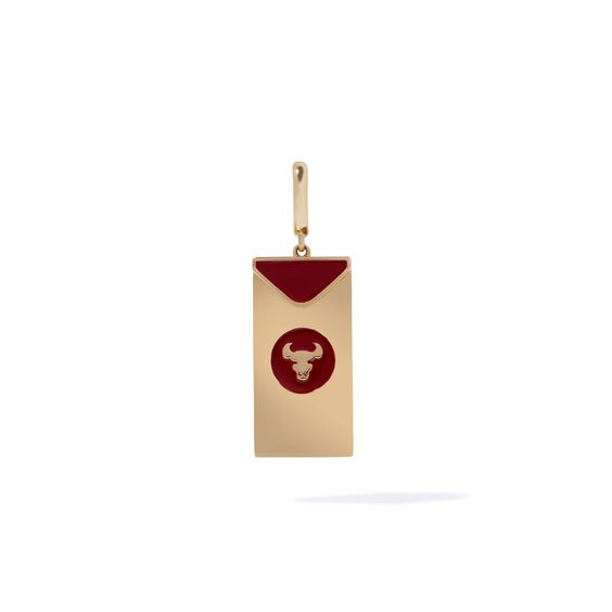 Mythology 18ct Gold Red Envelope Ox Charm | Annoushka jewelley