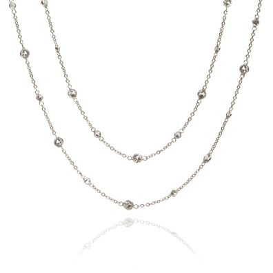 Nectar 18ct White Gold Sapphire Necklace