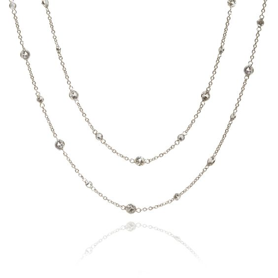 Nectar 18ct White Gold Sapphire Necklace | Annoushka jewelley