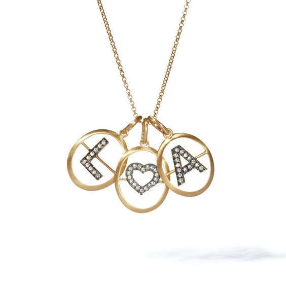18ct Gold Initial Love Necklace