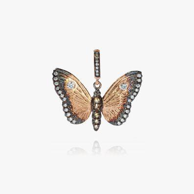 Mythology 18ct Rose Gold Diamond Butterfly Pendant