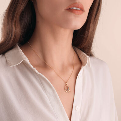 18ct Gold Diamond Initial J Necklace