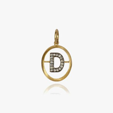 18ct Gold Diamond Initial D Pendant