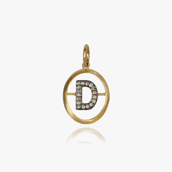 18ct Gold Diamond Initial D Pendant | Annoushka jewelley