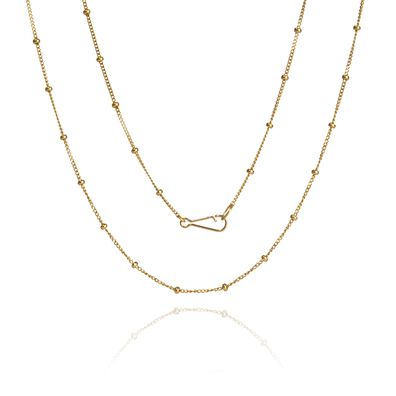 14ct Gold Saturn Short Chain