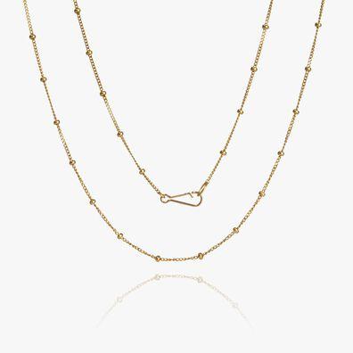 14ct Gold Saturn Short Chain