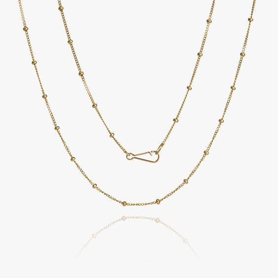 14ct Gold Saturn Short Chain   Annoushka jewelley