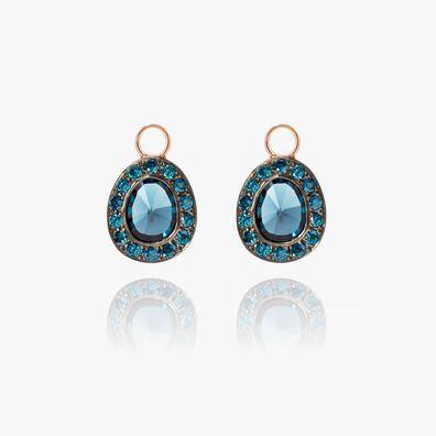 Dusty Diamonds 18ct Rose Gold Topaz Earring Drops