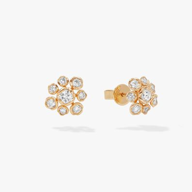 Marguerite 18ct Gold Diamond Large Stud Earrings