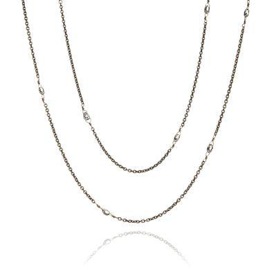 Eclipse 18ct White Gold Diamond Briolette Chain
