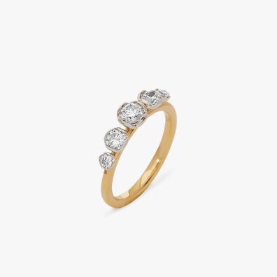 Marguerite 18ct Yellow & White Gold Five Stone 0.25ct Engagement Ring