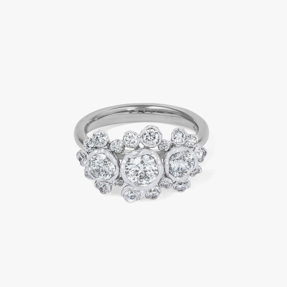 Marguerite 18ct White Gold 0.50ct Triple Diamond Ring | Annoushka jewelley