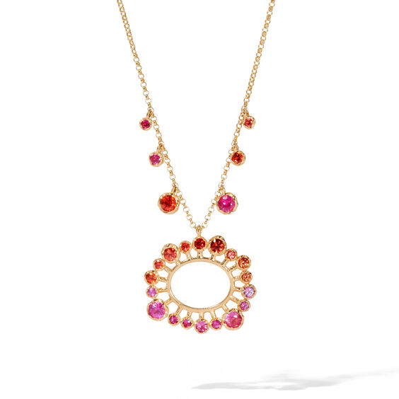 Hidden Reef 18ct Gold Sapphire Necklace | Annoushka jewelley