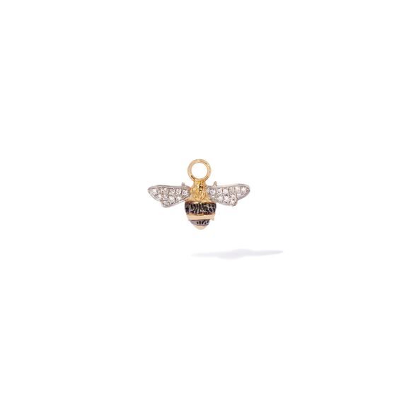 Mythology 18ct Gold Diamond Bee Single Earring Drop | Annoushka jewelley