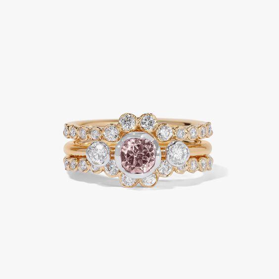 18ct Morganite & Diamond Engagement Jacket Ring