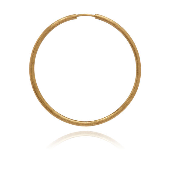 18ct Gold Medium Hoop Earring
