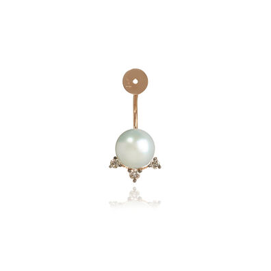 Diamonds & Pearls 18ct Rose Gold Single Earring Back
