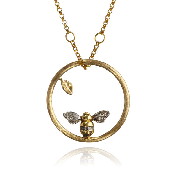 Hoopla 18ct Gold Bee Necklace | Annoushka jewelley