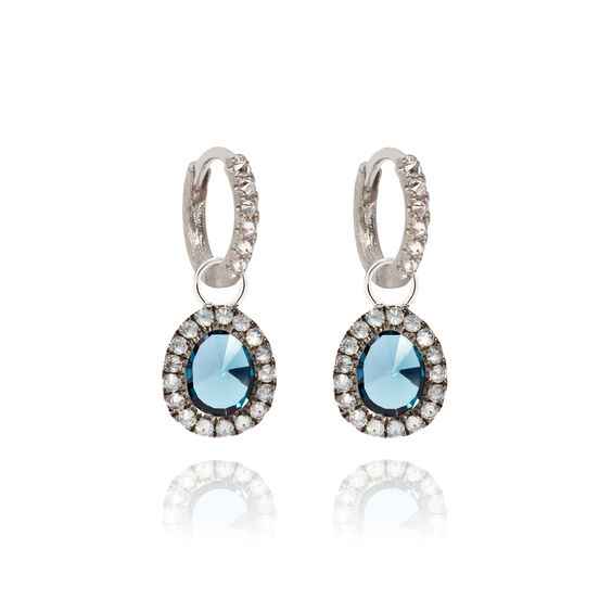 Dusty Diamonds 18ct White Gold Small Topaz Earrings | Annoushka jewelley