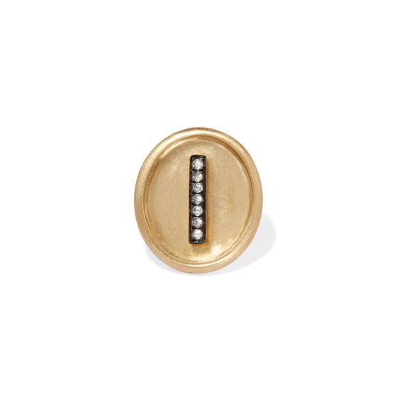18ct Gold Diamond Initial I Face | Annoushka jewelley