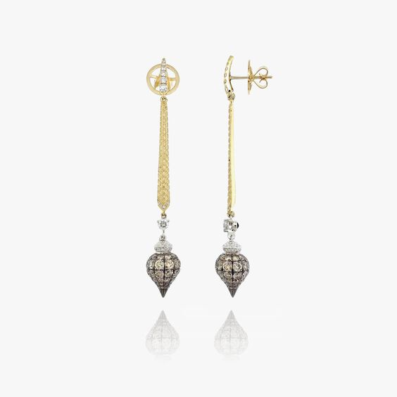 Touch Wood 18ct Gold Diamond Earrings | Annoushka jewelley