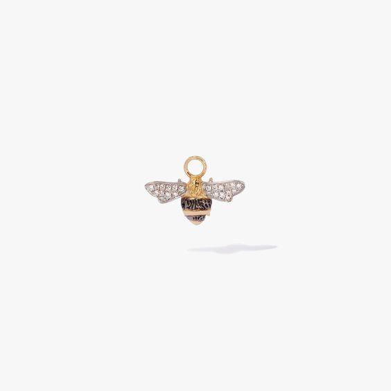 Mythology 18ct Gold Diamond Bee Single Earring Drop   Annoushka jewelley