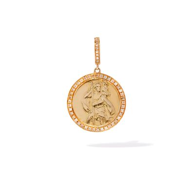 Mythology 18ct Gold Diamond St Christopher Charm