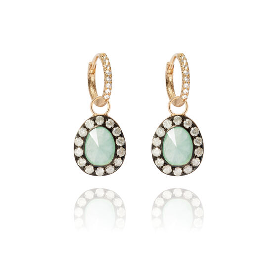 Dusty Diamonds 18ct Gold Jade Earrings | Annoushka jewelley