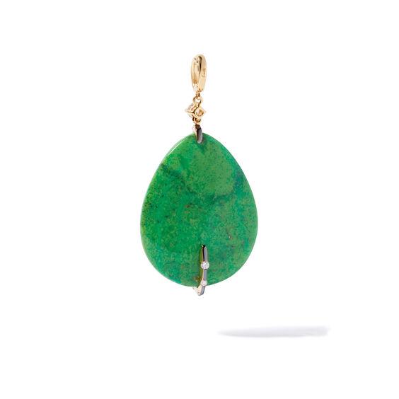 18ct Gold Nevada Turquoise Diamond Pendant