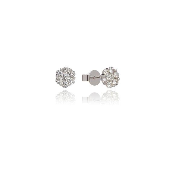 Daisy 18ct White Gold 1ct Diamond Studs | Annoushka jewelley