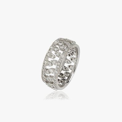 Crown Interlaced Ring Stack in 18ct White Gold