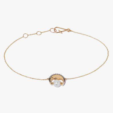 Mythology 18ct Gold Pearl Moon Bracelet